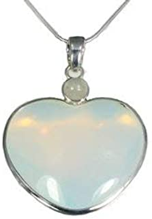 Colgante de corazón de piedra opalita dos