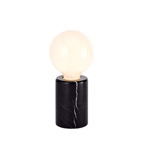 YIXIN2013SHOP Lámpara Mesilla de Noche Nordic Mini Lámpara de Mesa Estudio Dormitorio Lámpara de cabecera Lámpara de Mesa Europea Simple Lámparas de Escritorio (Color : Black)