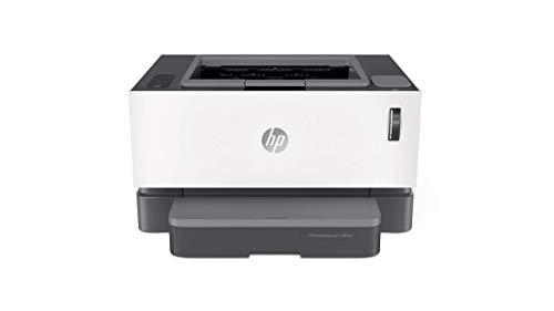 HP Neverstop Laser 1001nw – Impresora con depósito de tóner para imprimir hasta 5000 páginas, Impresión monocromo de hasta 20 ppm (WiFi, USB, HP Smart App), Color Blanco (Reacondicionado)