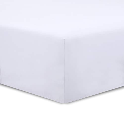 Vision Lenzuola con Angoli Bianco 200x200cm - 100% Coton - con Altezza da 30cm