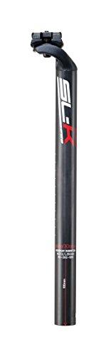 FSA SL-K Carbon Di2 MTC Sb20 - Tija de sillín Unisex, Color Gris y Carbono, 31,6 x 400 mm