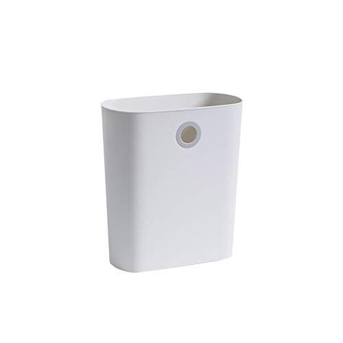 CZFSKCZjt Cubo De Basura, La Basura se Puede Colocar en la Sala de Estar de la Sala de baño, la Cocina PP Que cuelga la Papelera. (Color : White)