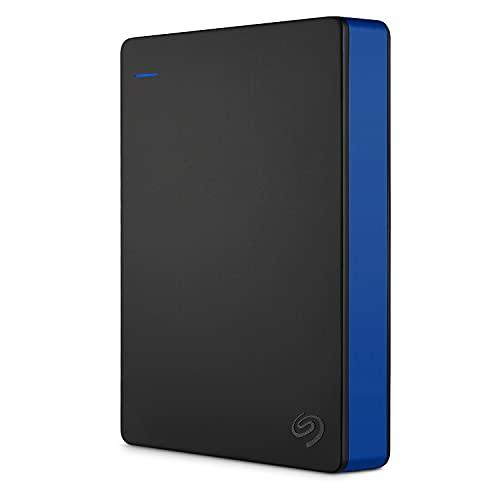 Seagate Game Drive for PS4, 4 TB, Unidad de disco duro externa, HDD portátil, compatible con PS4 y PS5 (STGD4000400)