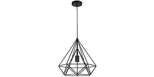 LIFA LIVING Industriele Hanglamp, Zwarte Plafondlamp, Moderne Metalen Verlichting, Draadlamp voor Woonkamer, Eetkamer, Slaapkamer