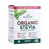 Sweet Leaf Sweetener Sweeteners Organic Stevia Sweeteners 70 packets (a) - PACK OF 4