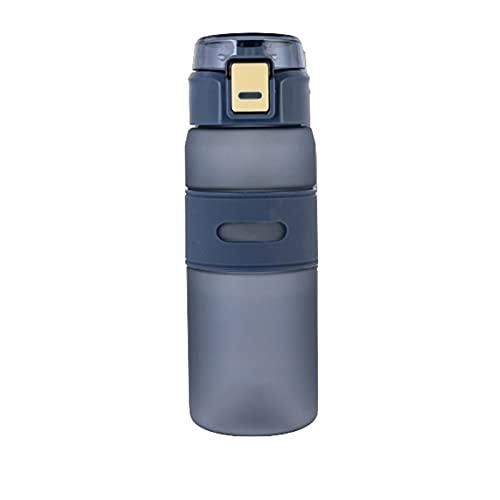 Botella deportiva al aire libre portátil Botella de agua plástica de gran capacidad con escala y protección ambiental a prueba de fugas Botella de agua plástica BPA -Free 700ml capacidad adecuada para