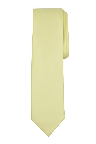 Jacob Alexander Boy's Regular Self Tie Prep Solid Color Necktie - Yellow