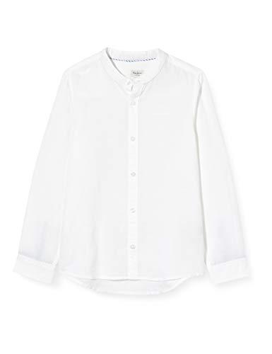 Pepe Jeans Jungen Hemd Ben, Weiß (Optic White 802), 17-18 Jahre (Herstellergröße: 18)