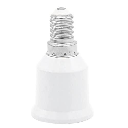 Yililay E14 a E27 zócalo del convertidor LED Bombillas Tornillo Adaptador Inteligente de Ahorro de energía del Bulbo de la lámpara de Calor Resistente del Adaptador del zócalo Blanca