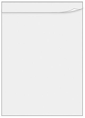 Veloflex 0440091 - Übungsschreibfolie Überhangfolie DIN A4, aus PVC, Matt Transparent, 10er Packung