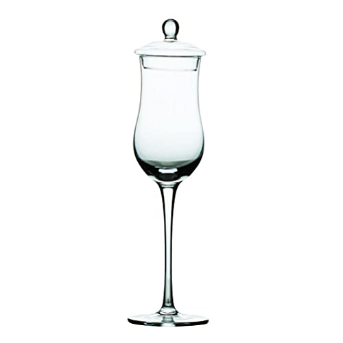 PQQ Vasos de degustación de Whisky con Tapa 6 oz (Juego de 2) Copas de Vino de Cristal Copas de Licor para Beber Whisky Cócteles Vasos de Brandy para Regalos del día del Padre Bares de Fiesta Hogar