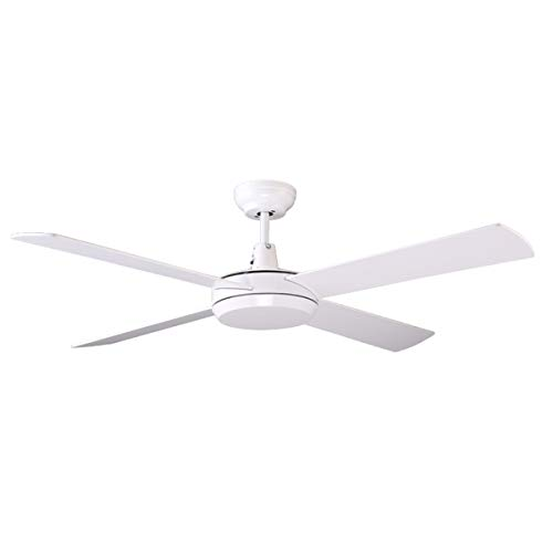 7PANDAS 52' (1320mm) Morden White Ceiling Fans with Wall Control, AC Motor 4 Reversible Blades 3 Speed, White