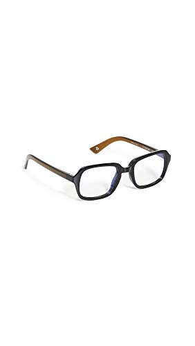 The Book Club Women's Blue Light Hairy Otter And The Deathly Shallows Glasses, Black Tea, One Size