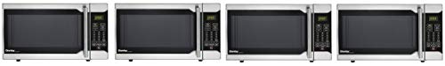 Danby Designer 0.7 Cu. Ft. 700W Countertop Microwave Oven in Stainless Steel (Pack of 4)