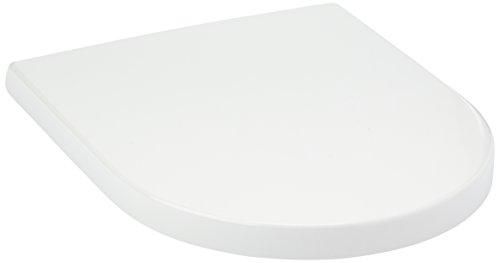 Villeroy & Boch 9M686101 Sedile WC Subway 2.0, Cerniere in Acciaio Inox, Bianco