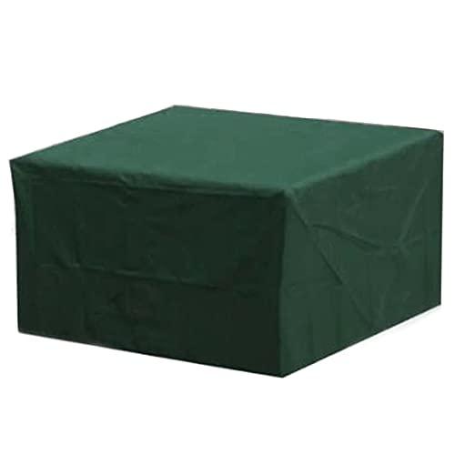 Yadaln Funda Impermeable Exterior Muebles Terraza Palet Cuadrada Grande Mesa Barbacoa Sofa PañO Oxford 210D Prueba Viento Anti-UV Verde Yadlan(Color:213 * 132 * 70cm)