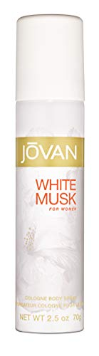 Jovan White Musk for Women, Body Spray, 2.5 fl. oz., Women's Fragrance with Musk & Floral Notes like Jasmine, A Sexually Appealing & Attractive Spray On Scent That Makes a Great Gift.