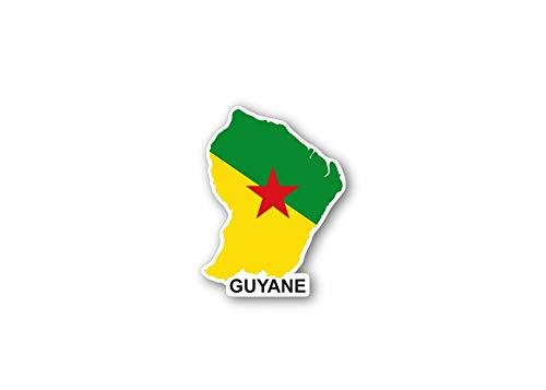 Akachafactory Sticker auto vlag kaart land provincie regio Frankrijk guyana guyane