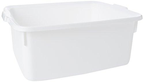 Addis, bacinella in plastica, Ampia, Rettangolare, plastica, White, 33 x 42 x 17 cm