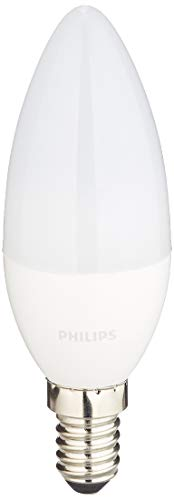 Philips 8718696485460 A+, LED-Leuchtmittel, Plastik, 5.5 W, E14, matt weiß, 3.5 x 3.5 x 10.6 cm