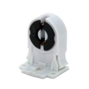 MAILUX SOD14739 T8 / G13 Leuchtstofflampen-Halter Sockel Buchse Fassung | Für AC100-250V LED oder Leuchtstoffröhre | Kunststoff weiss | 20 Stück