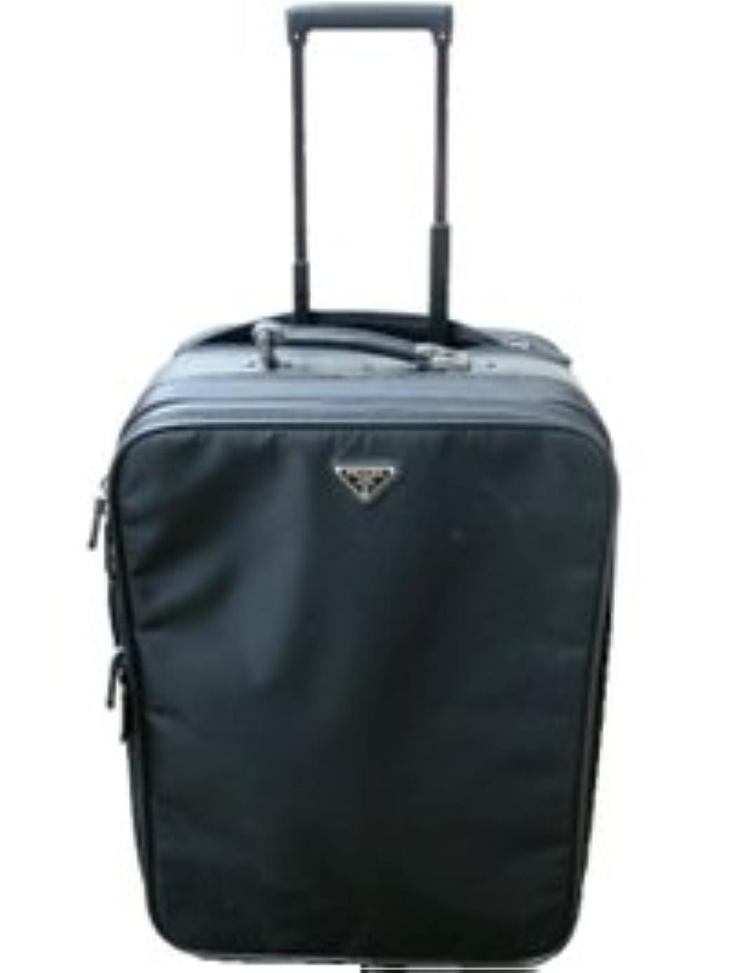 オゾン名声家庭教師プラダ PRADA バッグ キャリーバッグ 旅行かばん トラベル ナイロン製 ブラック 黒 2輪タイヤ VV031M 064 F0002 00 中古