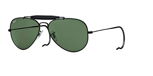Ray-Ban RB3030 OUTDOORSMAN L9500 58M Black/Green Crystal Sunglasses For Men For Women