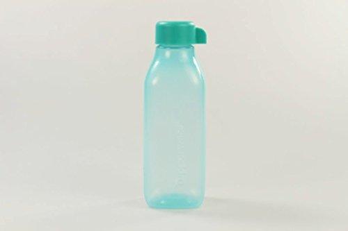 TUPPERWARE To Go Eco 500 ml türkis EcoEasy Öko quadtratisch Flasche Quader