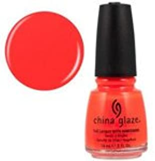 China Glaze Neon Orange Knockout Nail Polish .5oz