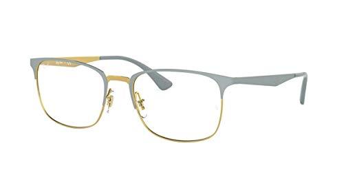 Ray-Ban 0RX6421 Monturas de gafas, Top Matte Grey On Shiny Gold, 52 Unisex