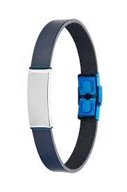 MAREA Pulsera Jewels para Hombre con Cuero Azul D00103/129