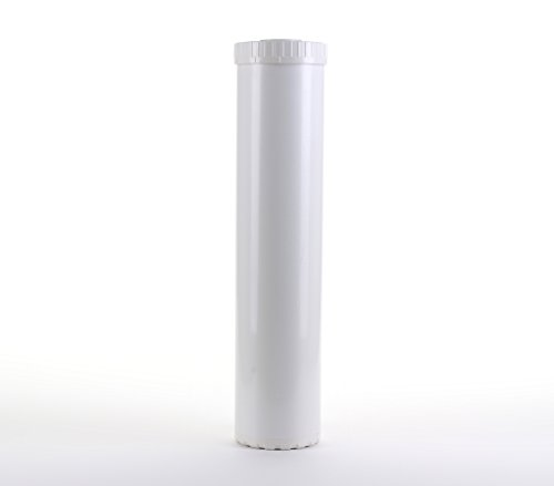 Hydronix EC-4520W White Empty Water Filter Cartridge Durable Construction for Pre Post, Fits Big Blue Housings 4.5 x 20
