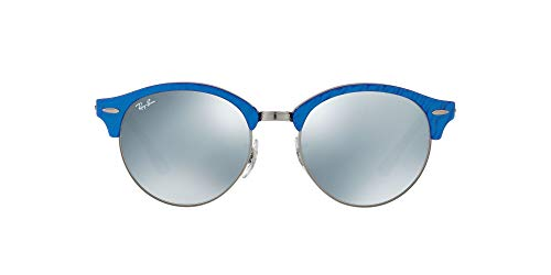 Ray-ban - Mod. 4246 - Lunettes De Soleil Unisex-Adult, top wrinkled blu on black (top wrinkled blu on black), taille 51