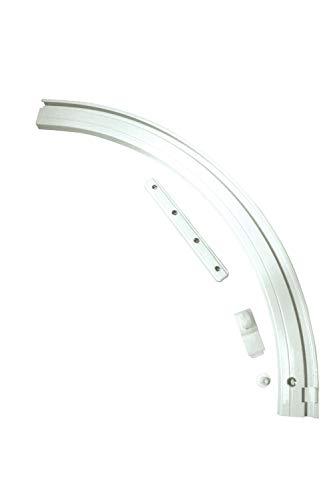 Gardinia Rundbogen für Aluminium-Vorhangschiene 1-läufig rechts weiß 20 x 20 cm