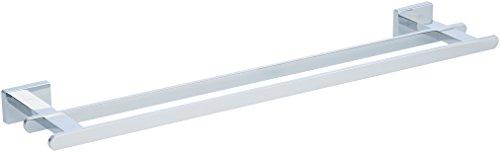 AmazonBasics - Doppelte Handtuchleiste, Euro, Chrom poliert - 53,34 cm