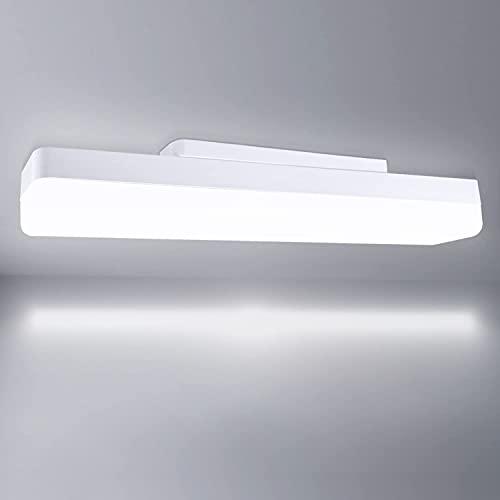 Dehobo Lámpara de Techo LED 40cm 18W, Luz de tubo LED Blanco Frío 6500K, Luminarias Led Cocina Barra Led Techo 1620LM Iluminación de Techo para Oficina Garaje Supermercado Dormitorio Pasillo