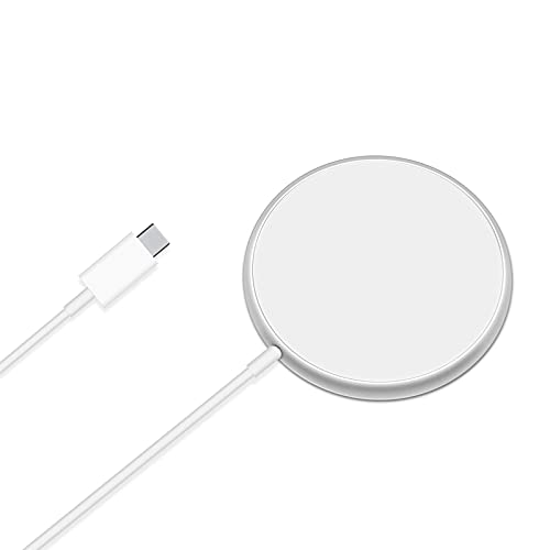 Farsaw Magnetic Wireless Charger with USB C Port, 15W Fast Mag Safe Charger Compatible with iPhone 12/12 Pro/12 Pro Max/12 Mini/Airpods Pro, Qi Wireless Charging Compatible with iPhone 8 or Later