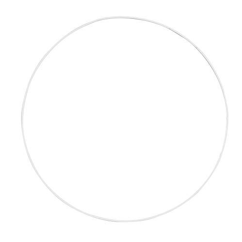 Glorex Metallring 30 cm, Metall, Weiß