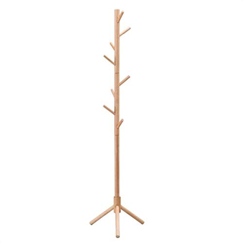 LKOP Soporte de Perchero de Capa de Madera con 8 Ganchos, vestíbulo de árbol de vestíbulo de pie, Percha de Percha, Perchero, Bandeja de vestíbulo de árbol
