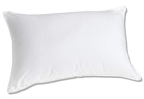 Luxuredown White Goose Down Pillow, Medium Firm, 650 Fill Power - King Size