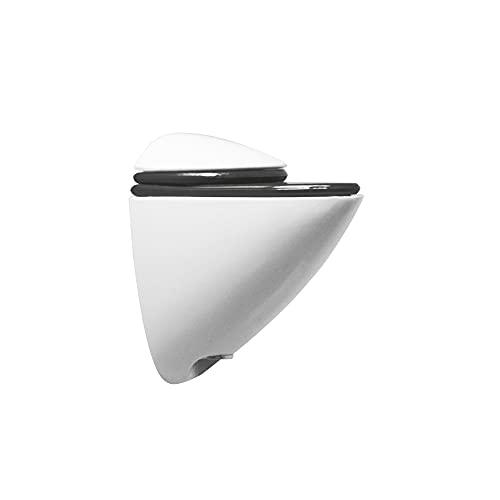 Amig Soporte de pared para baldas y estantes, Apertura máxima: 16 mm, Material: Zamak, Acabado: Blanco, Soporte pelícano, Apoyo para estantería