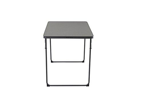 Portal Unisex– Erwachsene Rock Table Campingtisch 60x80x70 cm leichter Klapptisch Gartentisch, Tisch für Terasse Balkon, Grau, 2-4 Personen