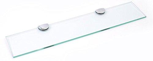 Estante de cristal endurecido de 500 mm x 100 mm de grosor...