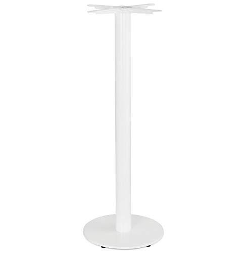 Alterego Pied de Table Rond 'Cortado' 110 en métal Blanc intérieur/extérieur