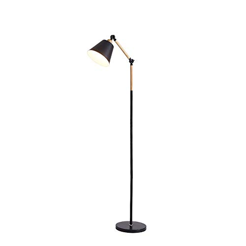 Zwarte Lezen Staande Lamp 7W Intelligente Dimmen Traploos Instelbare Timing Rotatie Geschikt Sofa Slaapkamer Verticale Lamp