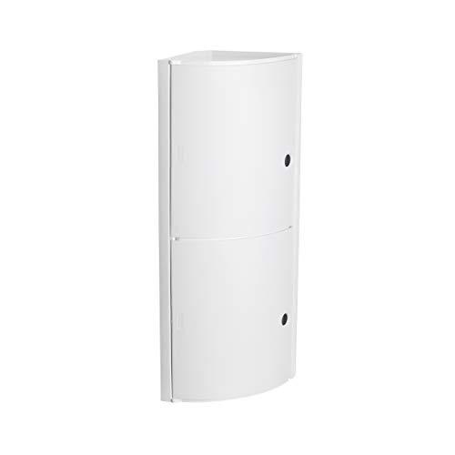 Tatay Armario plástico Horizontal, Color Blanco, 2 Puertas sin pomos, y Estante Interior removible. Meiddas 20x20x62,5 cm