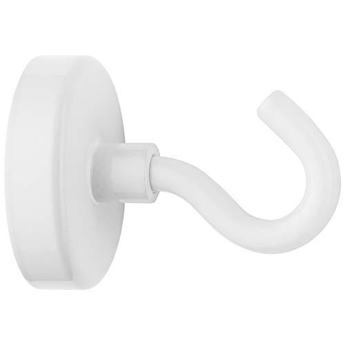Westcott E-10829 00 Magnethaken Neodym, 48 mm, Haftkraft bis ca. 60 kg, weiß