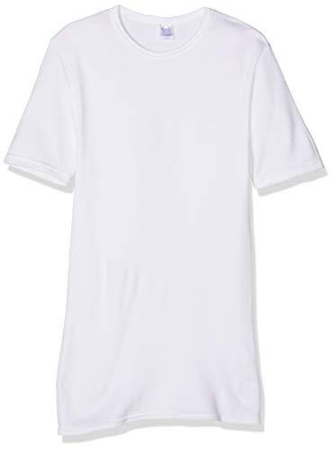 ABANDERADO Termal Fibra De Invierno C Redondo Camiseta térmica, Blanco, L para Hombre