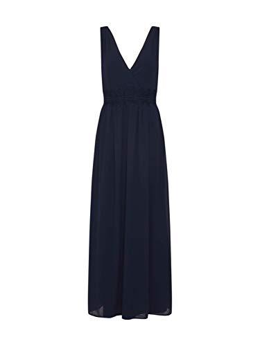 VILA CLOTHES Damen VIMILINA S/L MAXI DRESS/DC Kleid, Blau (Navy Blazer), (Herstellergröße: 40)