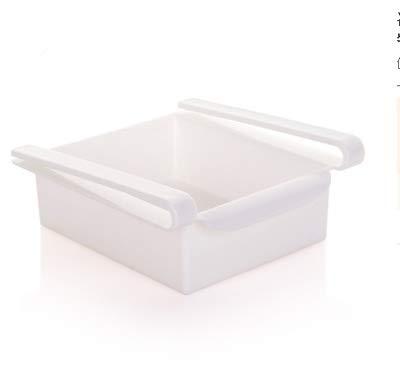 QICHENGBIN Mini Coffret à Bijoux Cuisine Réfrigérateur Multifonction Support de Rangement Réfrigérateur-congélateur Porte-Shelf, for réfrigérateur et Un Bureau (2 PCS) (Color : White)